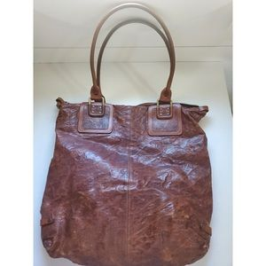 Brown Leather Diesel Bag